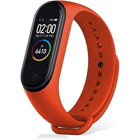 Xiaomi Mi Band 4 Pulsera de Actividad,Monitores de Actividad,Pantalla Pulsómetro Fitness Tracker, Smartwatch con 0.95''Pantalla AMOLED a Color ,con ios y Android, Naranja( Versión Global)
