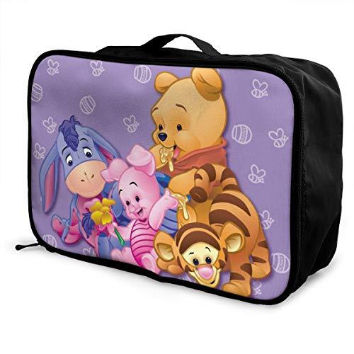Winnie The Pooh borsone da viaggio impermeabile alla moda leggero grande capacità portatile bagagli