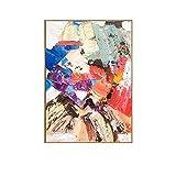 Cuadros Pintados A Mano Sobre Lienzo,Arte De Pared Abstracto Moderno Extra Grande Cuadros Frescos Sin Marco Bloque De Color 100% Arte De Pared Pintado A Mano Con Textura Para La Sala De Estar, Dormi