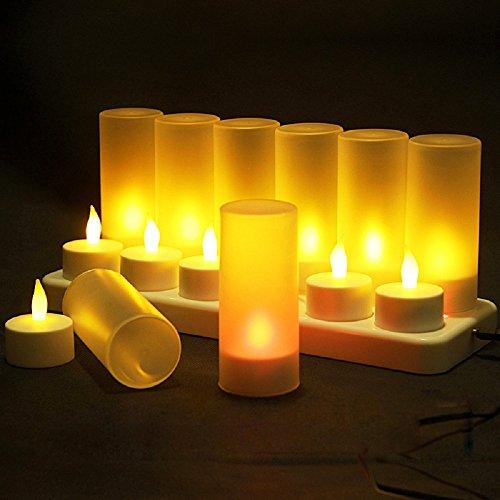 12 led-kaarsen oplaadbaar.