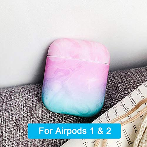 Funda diseño de mármol para Airpods Funda de Colores para Apple para Airpods Funda Air Pods Funda Coque para Airpod, Rosa 1, China