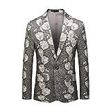 Briskorry Sakko Herren Slim fit Anzugjacke Tweed Anzug Mantel Jacke sportlich Casual Business...