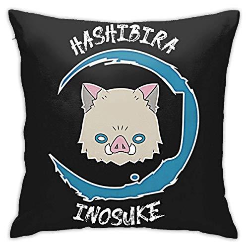 Yuanmeiju Demon Kimetsu No Yaiba Polyester Throw Pillow Case Cushion Cover Home Sofa Decorative
