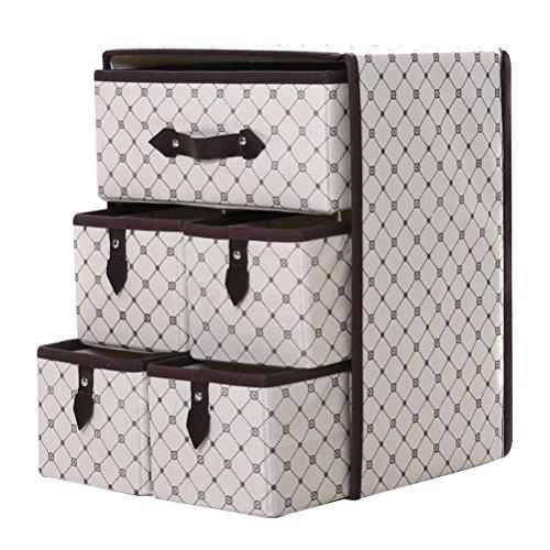 OUNONA Cajas plegables de almacenaje Organizador de tela para almacenamiento en el...