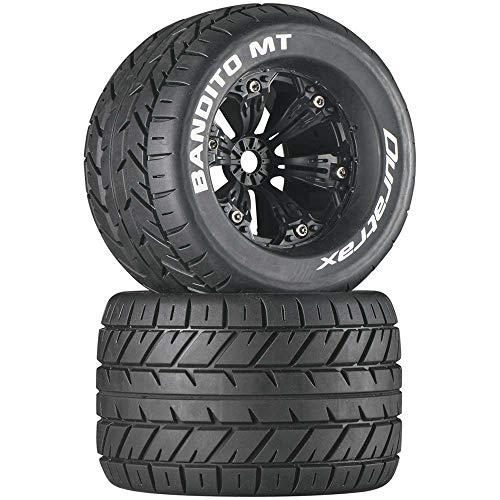"Duratrax Bandito MT 3.8"" Mounted 1/2"" Offset Tires, Black (2), DTXC3576"