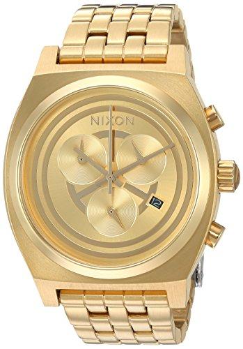 Nixon Time Teller Chrono SW, C-3PO Gold' Reloj Casual de Cuarzo para Hombre (Modelo: A972SW-2378-00)