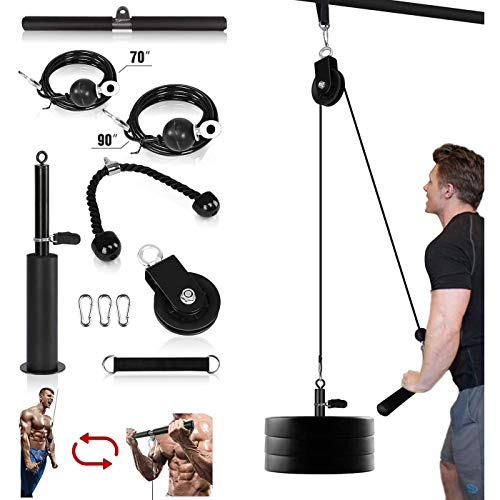 HAIZICJ Rope Pulley System, Arm Muscles Training, Forearm Wrist Trainer, Mit LAT Pulldown Und Heavy Duty Lift Für Bizeps Curls Trizeps Extensions Fitness Workout