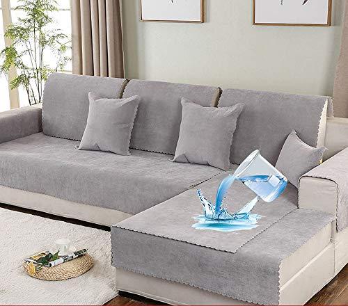 L&ZR étanche Urine Canapé housse d'angle 3 places Anti-dérapant salon Mobilier Protecteur, Protection pour Animaux domestiques à Chien bébé Housse de canapé Combinaison canapé Serviette, 70 * 240cm