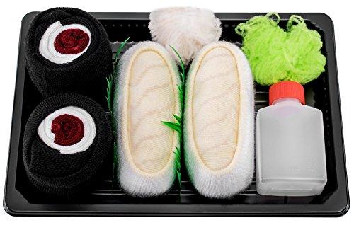 Rainbow Socks - Damen Herren - Sushi Socken Butterfisch Thunfisch Maki - Lustige Geschenk - 2 Paar - Größen 41-46