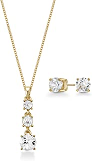 Mestige Women Glass Gold Phoebe Set with Swarovski Crystals