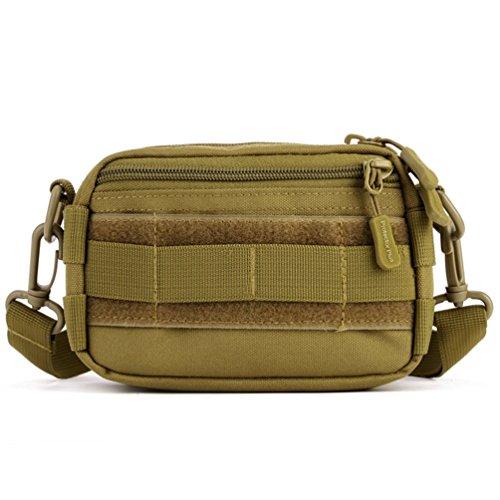 Protector Plus Taktische Tasche Militär Beutel MOLLE Outdoor Casual Kurier Tasche Taille Gürtel Pack (Braun)