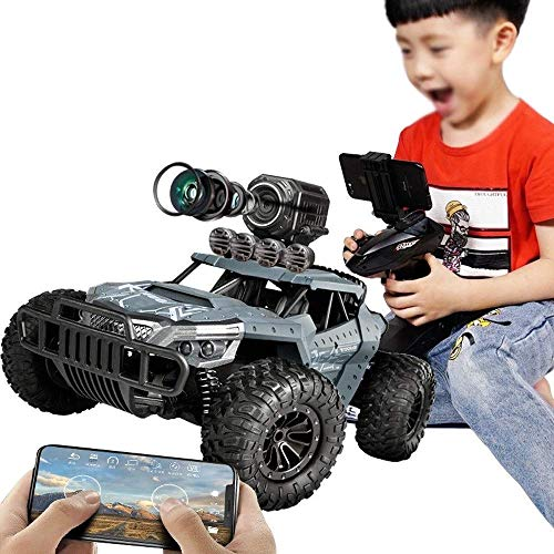 bxbx Voiture Tout Terrain RC Haute Vitesse, 2.4Ghz APP Control RC Cars Off-Road Rock Crawler Vehicle Military Monster Truck Army Car Gift for Kids and Adults