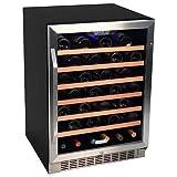 EdgeStar 53 Bottle Built-In Wine Cooler - Stainless Steel/Black