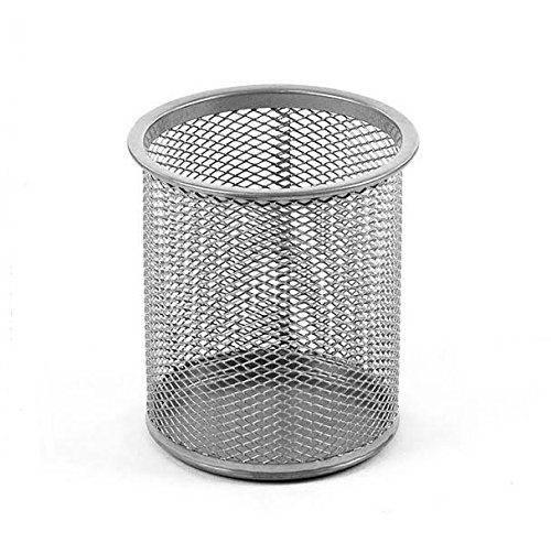 Ybmhome Office Round Desk Steel Mesh Pencil Cup Pen Holder Silver 2210 (1, Silver)
