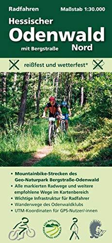 Radfahren, Hessischer Odenwald Nord mit Bergstraße: Maßstab 1:30.000; reißfest und wetterfest; Mountainbike-Strecken des Geo-Naturpark; Alle ... Odenwaldklubs; UTM-Koordinaten für GPS-Nutzer