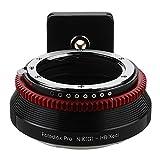 Fotodiox Adaptateur de monture d'objectif pour Nikon Nikkor F Mount G-Type D/SLR sur système d'appareil photo numérique sans miroir Hasselblad XCD