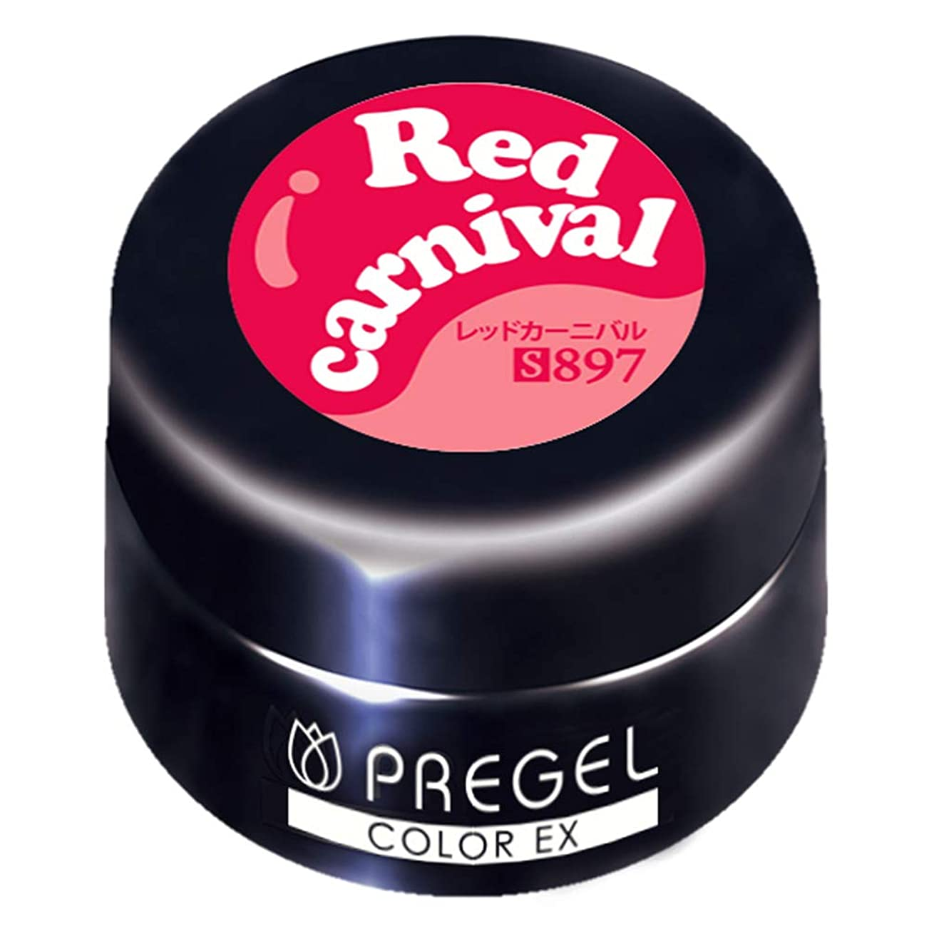 セミナー受け入れ地理PRE GEL カラーEX レッドカーニバル 3g PG-CE897