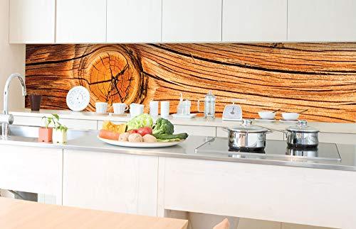 DIMEX LINE Küchenrückwand Folie selbstklebend Holz Knoten | Klebefolie - Dekofolie - Spritzschutz für Küche | Premium QUALITÄT - Made in EU | 350 cm x 60 cm