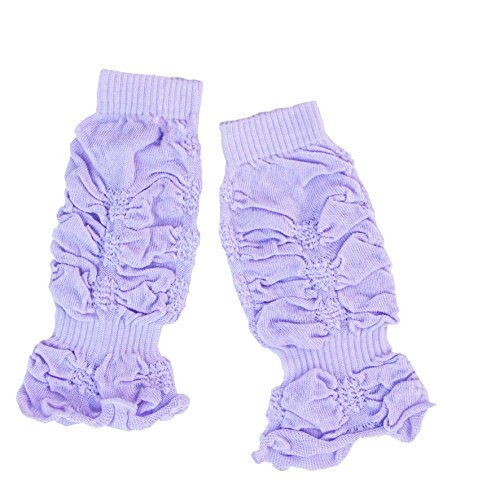 lilac leg warmer with shirrs