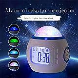 Planetario Proyector Proyector Estrellas Techo Adultos/Despertador Muestra Calendario, Hora, Fecha, Visualización De La Semana/7 Colores/Mejores Regalos Para Niños