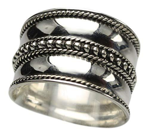 Feiner breiter 925er Silberring, Größe:Größe 62 (19.8 mm)