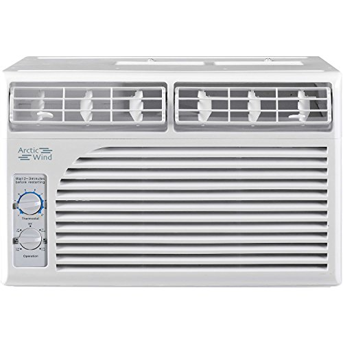 ARCTIC Wind 5,000 BTU Window Air Conditioner with Mechanical Controls, White
