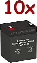 BatteryGuy BGH-1255F2 (Qty of 10) 12V 5.5ah High Rate Rechargeable UPS Backup Battery