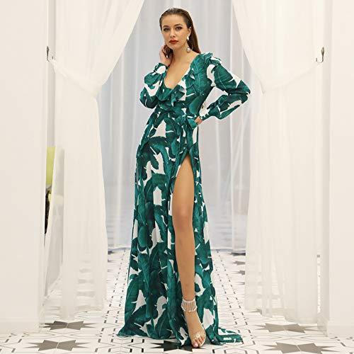 Vestido De Día Maxi Festivo Informal De Verano Con Estampado Floral Para Damas De Verano, Falda De Playa…