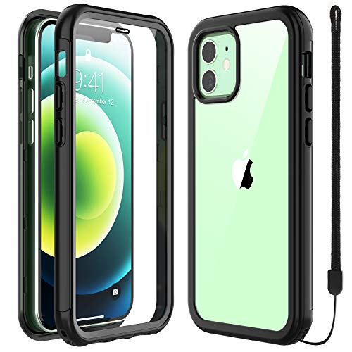 SPIDERCASE Designed for iPhone 12 Mini Case, Built-in Screen Protector, Full Heavy Duty Protective Case, Camera&Screen Protection, Anti-Scratched Rugged Case for iPhone 12 Mini 2020 Released