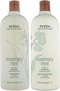 Aveda Rosemary Mint Purifying Shampoo and Weightless Conditioner Duo Liter