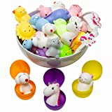 Mochi Squishy Toys Animal Squishies – 3 Surprise Eggs Mini Kawaii Cat 16pcs Stress Relief Toys Squishys Unicorn Party Favors for Kids Toys for Claw Game Pinata Filler Small Toys Egg Fillers for Easter
