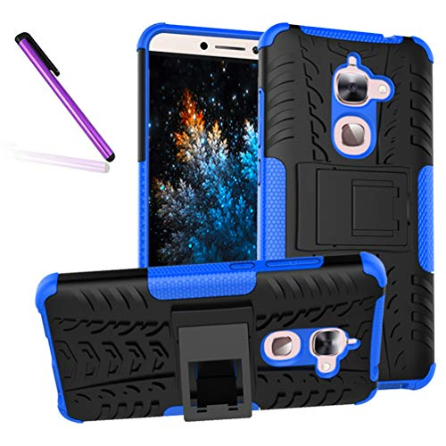 LeEco Le S3 Case, Tyre Pattern Design Heavy Duty Tough Armor Extreme Protection Case with Kickstand Shock Absorbing Detachable 2 in 1 Case Cover for LeEco Le 2 / LeEco Le S3. Hyun Blue