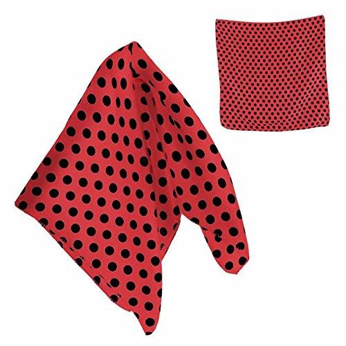 Partilandia PAÑUELO Sevillana Rojo Lunares Negros (Pack 6 uds)