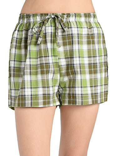 Latuza Women's Plaid Sleep Shorts