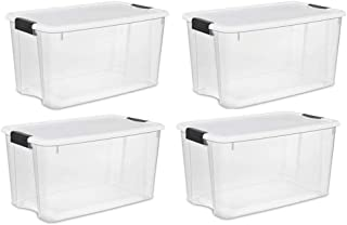STERILITE 70-Quart Clear Storage Container Box Tote (4 Pack)