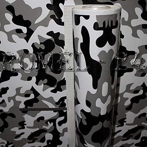 [19,00€/ m²] 100CM X 152CM FOLIE SELBSTKLEBEND HOCHGLANZ LUFTKANÄLE CAMOFLAGE