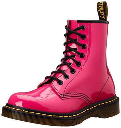 Dr. Martens 1460 Patent HOT Rosa, Damen Combat Boots, Rosa (Hot Rosa), 36 EU (3 Damen UK)