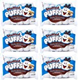 Stuffed Puffs - Classic Milk Chocolate 6 Pack, Chocolate Filled Marshmallows Made with Real...