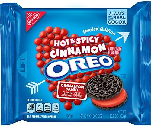 Oreo Hot & Spicy Cinnamon Creme Chocolate Sandwich Cookies, 10.7 Ounce