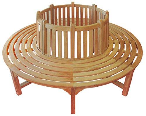 Gartenbank Baumbank 200 cm Teakholz Selected Kernholz unbehandelt zusammengebaut in 4 Teile