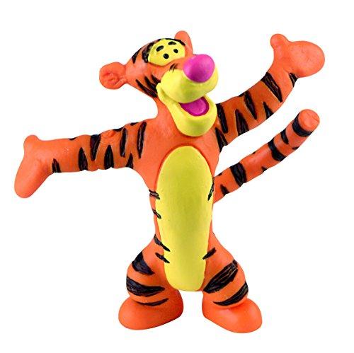 Bullyland 12345 - Spielfigur, Walt Disney Winnie Puuh, Tigger, ca. 6,5 cm groß, liebevoll handbemalte Figur, PVC-frei, tolles Geschenk für Jungen und Mädchen zum fantasievollen Spielen