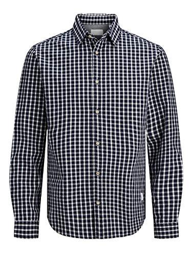 JACK & JONES Herren JJ30CLASSIC Shirt L/S Hemd, Black Iris/Fit:Comfort FIT, L