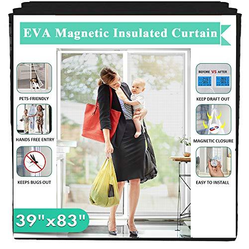 Insulated Magnetic Door Curtain, IKSTAR EVA Thermal Door Cover Fit Door Size 39