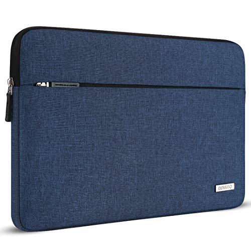 DOMISO 13.3 inch Laptop Sleeve Case Canvas Waterproof Carrying Bag for 13' MacBook Air 2014-2017/13.3' ThinkPad L390 Yoga X380 Yoga/13.9' Lenovo Yoga C930 GLASS/HP EliteBook 830 G5 840 G5 x360 G2,Blue