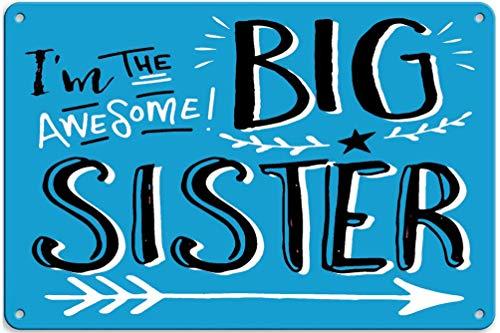 Zuigen Shirts voor Zuster en Broer, Inclusief Grote Zuster Om Tin Muurschildering Vintage Opknoping Metalen Plaque Poster Retro Art Bar Store Home Decoratie