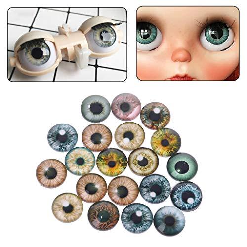 MIsha 20 Piezas Ojos de seguridad de Vaso Juguete animal de cristal...
