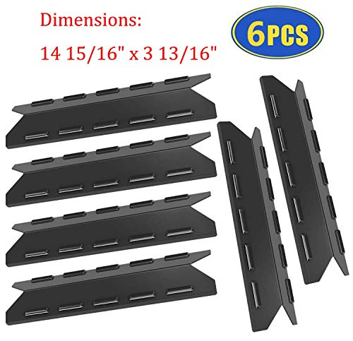 Grill Replacement Parts for Kenmore 146.47223610, 146.16142210, 146.10017510, 146.23766310, 146.16153110 Gas Grills, Set of 6 Grill Heat Plates Burner Covers Heat Shields Replacement for Kenmore Grill Grill Heat Plates