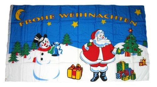Fahne / Flagge Weihnachten Schneemann NEU 90 x 150 cm