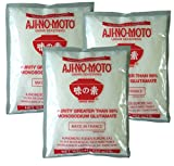3er Pack - [3x 454g] Mononatrium Glutamat AJI-NO-MOTO Monosodium Glutamate E621 + ein kleines Glückspüppchen - Holzpüppchen