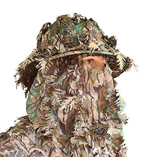 Mossy Oak Greenleaf Camo Face Mask Hunting Hats for Men...
